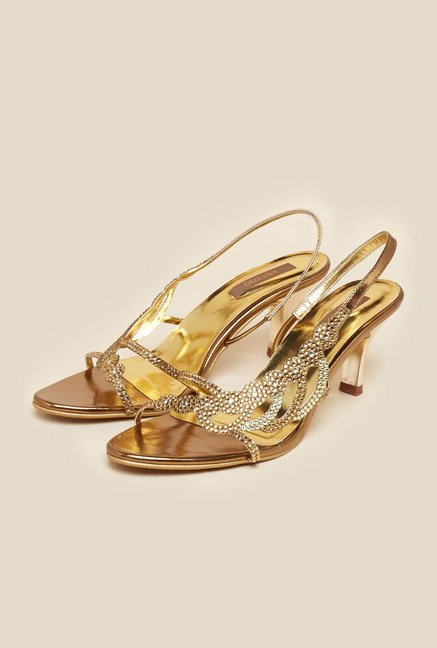 Metro Antique Gold Stilettos