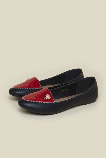 Metro Black Ballerina Flat Shoes