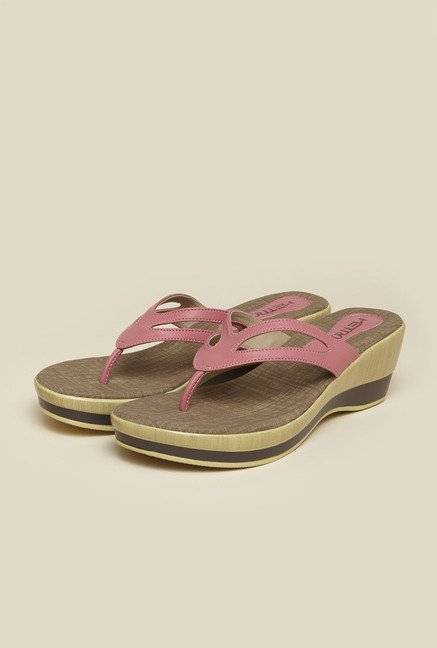 Metro Pink Casual Wedges