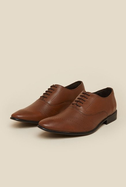Metro Tan Brogue Shoes