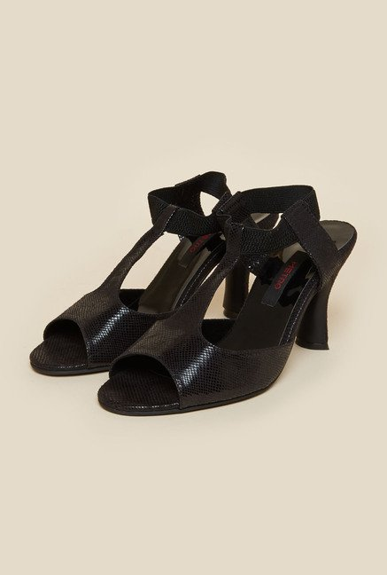 Metro Black Stiletto Sandals