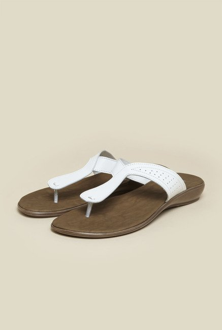 Metro White Casual Slip-On Sandals