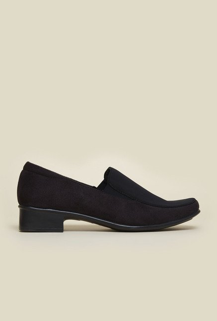 Metro Black Suede Leather Shoes