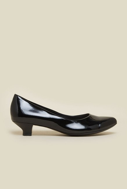Metro Black Kitten Heel Shoes