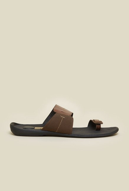 Metro Tan Toe Ring Slip-On Sandals