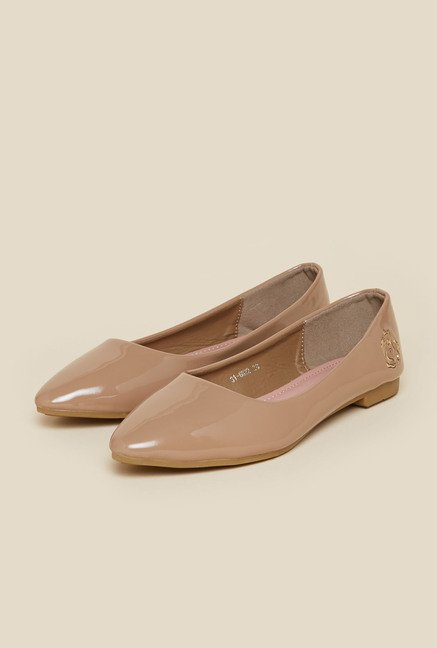 Metro Taupe Ballerina Shoes