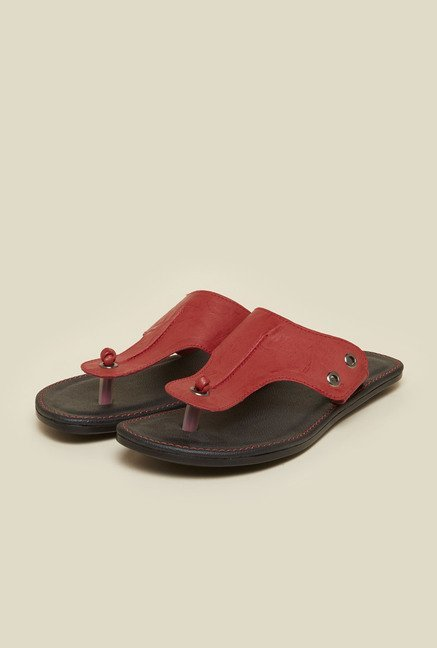 Metro Red Slip-On Sandals