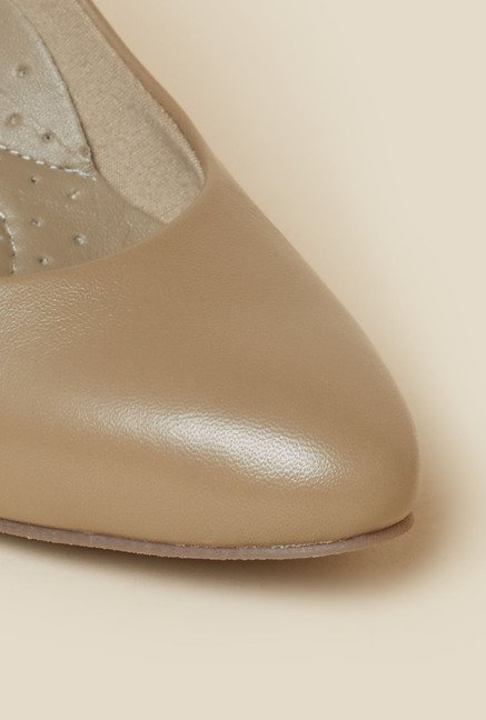 Metro Beige Heeled Pumps