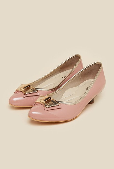 Metro Pink Kitten Heel Pumps