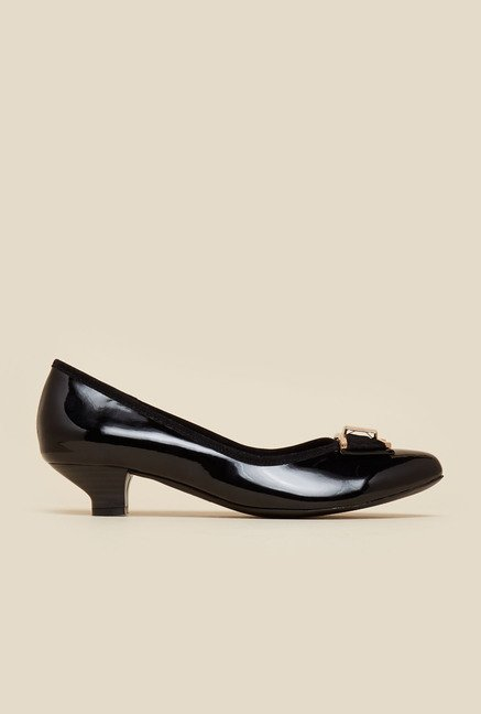 Metro Black Kitten Heel Pumps