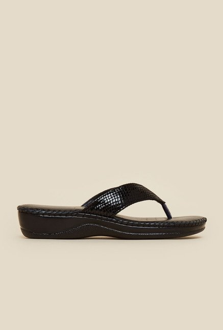 Metro Textured Strap Slip-On Sandals