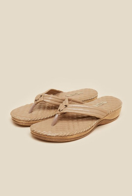 Metro Beige Leather Sandals