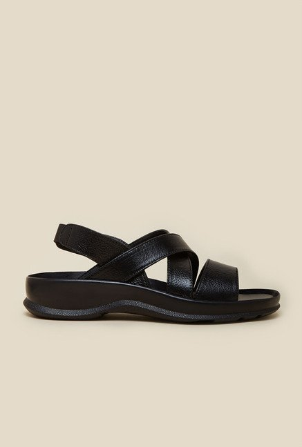 Metro Black Open Toe Sandals