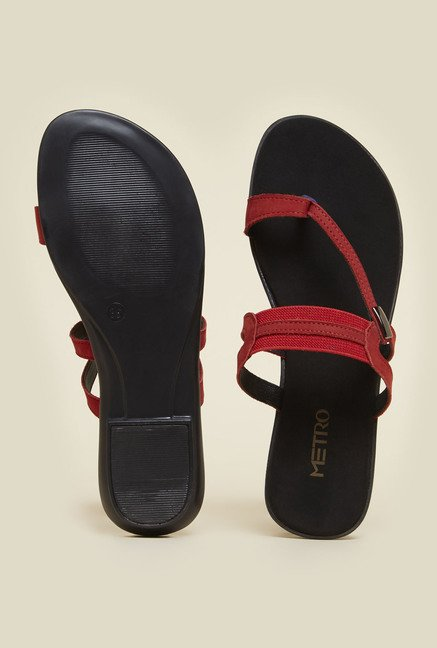 Metro Red Toe Ring Sandals