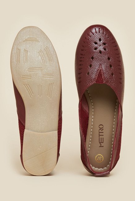 Metro Maroon Laser Cut Loafers