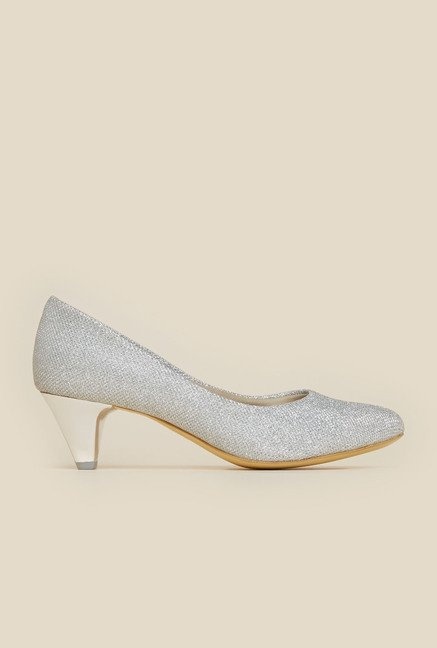 Metro Silver Slip-On Pumps