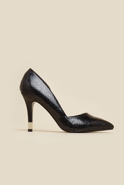 Metro Black Court Shoes