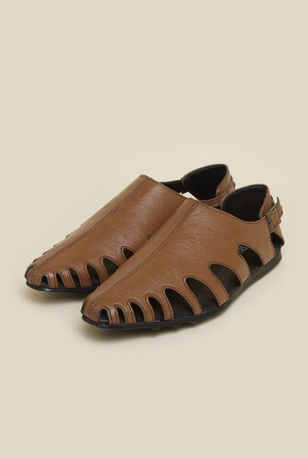 Metro Tan Leather Sandals