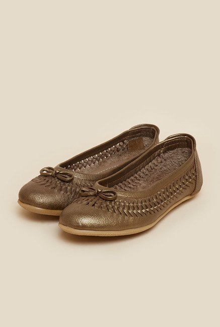 Metro Antique Gold Ballerina Shoes