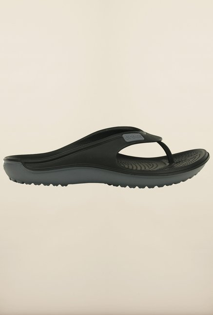 Crocs Duet Wave Black & Charcoal Flip Flops