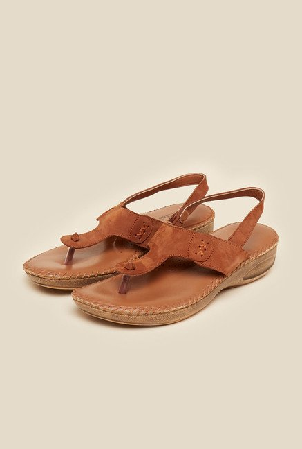 Metro Brown Backstrap Sandals