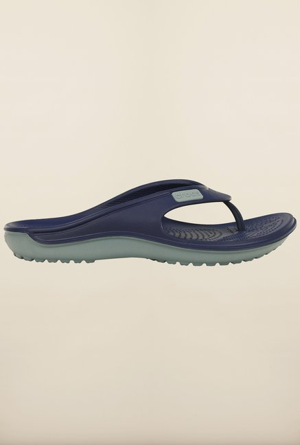 Crocs Duet Wave Nautical Navy & Concrete Flip Flops