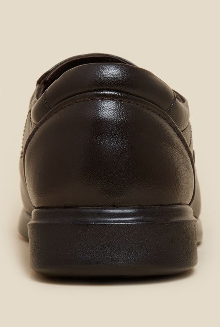 Metro Dark Brown Square Toe Moccasin