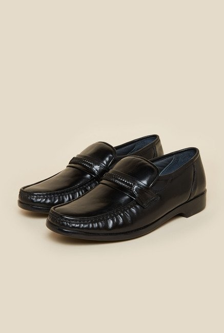 Metro Black Formal Leather Moccasin