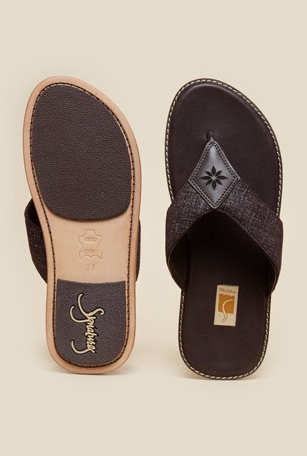 Da Vinchi by Metro Brown Flip Flops