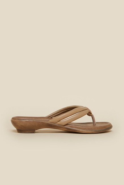Metro Beige Knotted Front Sandals