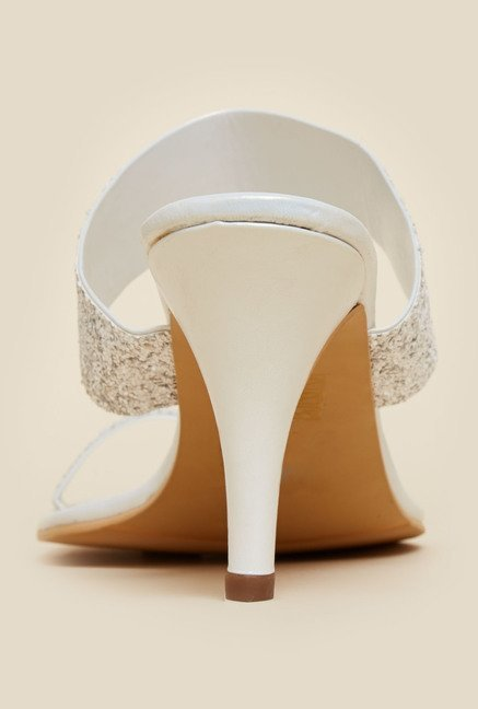 Metro White Slip-On Stilettos