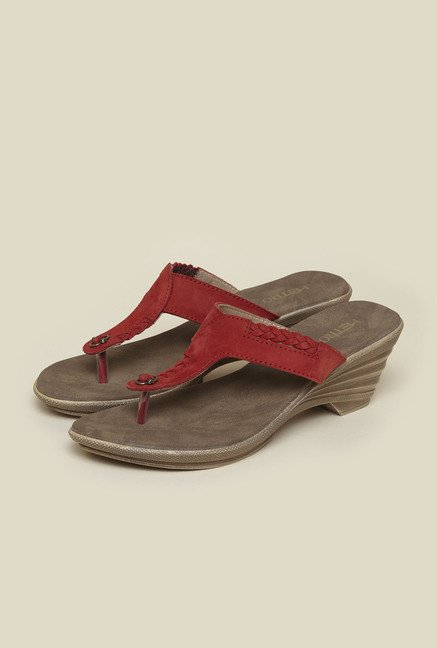 Metro Red Nubuck Leather Sandals