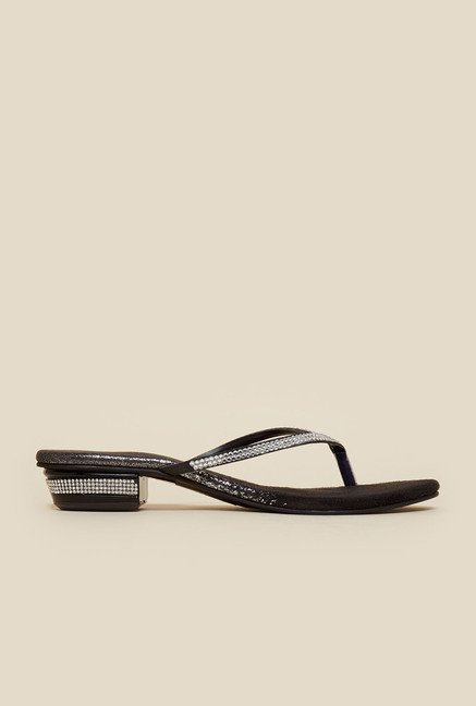 Metro Black Diamant  Embellished Sandals