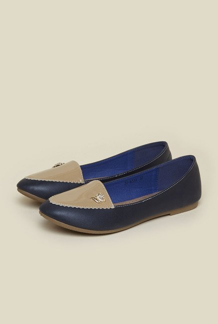 Metro Navy Ballet Flat Shoes