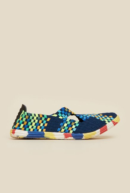 Metro Navy Slip-On Shoes
