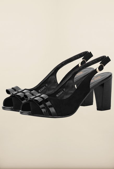 Tresmode Cesan Black Back Strap Sandals