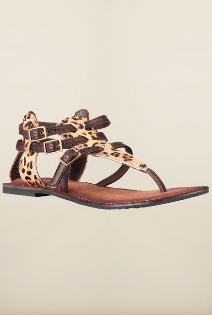 Tresmode Brown Flat Sandals