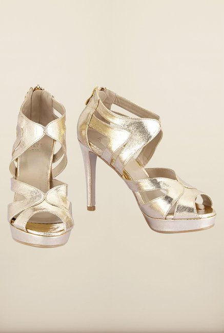 Tresmode Kramp Gold Stilettos