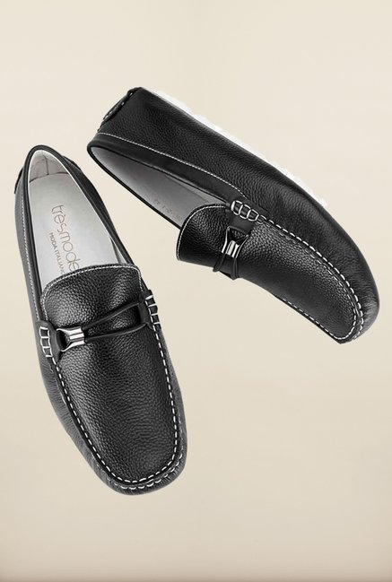 Tresmode Savring Black Loafers