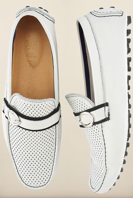 Tresmode Jcbuck White Loafers