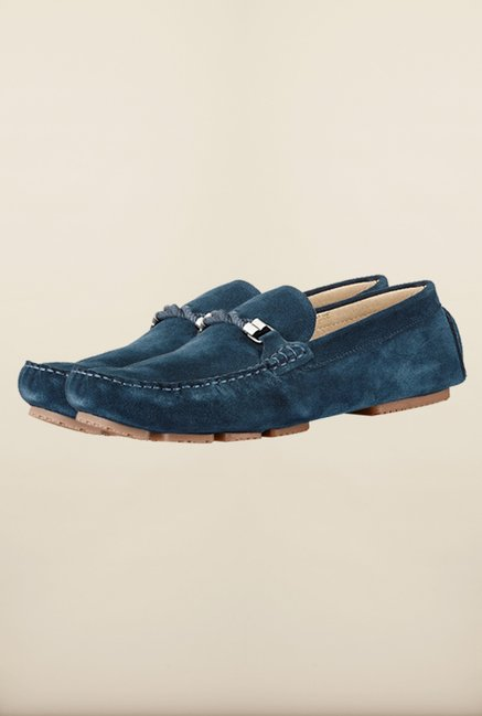 Tresmode Navy Smocroped Navy Loafers