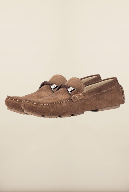 Tresmode Smocroped Brown Loafers