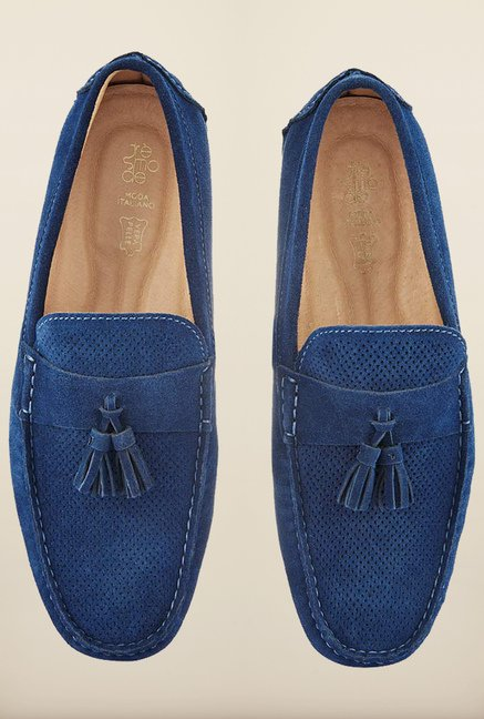 Tresmode Jsuede Blue Loafers