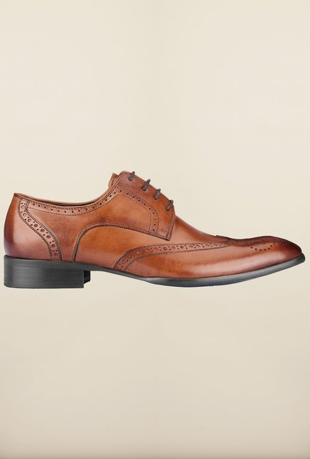 Tresmode Miamen Tan Brogue Shoes