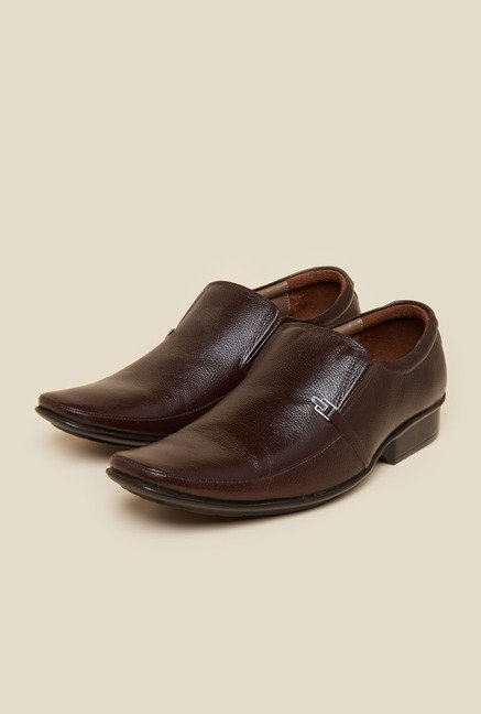 Metro Brown Slip-On Shoes