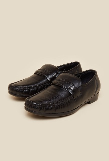 Metro Black Moccasin Formal Shoes
