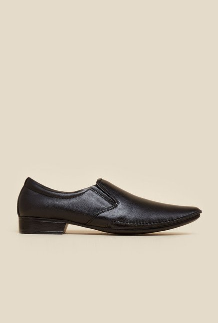 Metro Black Elegant Slip-On Shoes