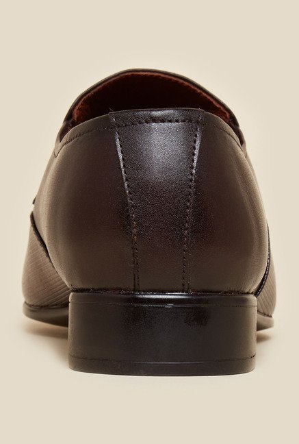 Metro Brown Leather Moccasins