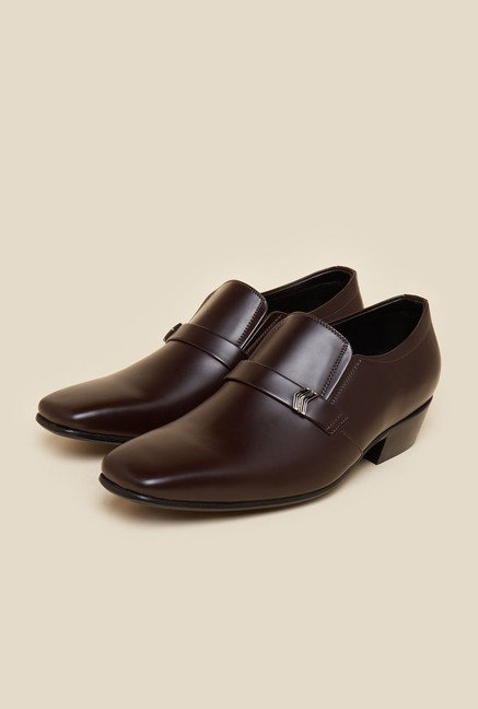 Metro Brown Leather Moccasin Shoes