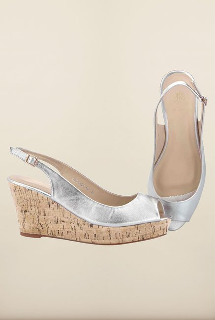 Tresmode Glamwed Silver Wedges